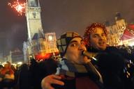 Novoroční oslavy na Staroměstském náměstí v Praze
