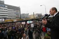 Ministr zemědělství Petr Gandalovič na demonstraci zemědělců