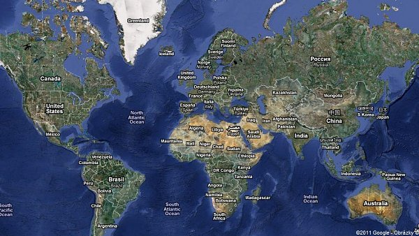 Ilustrační foto - mapa světa