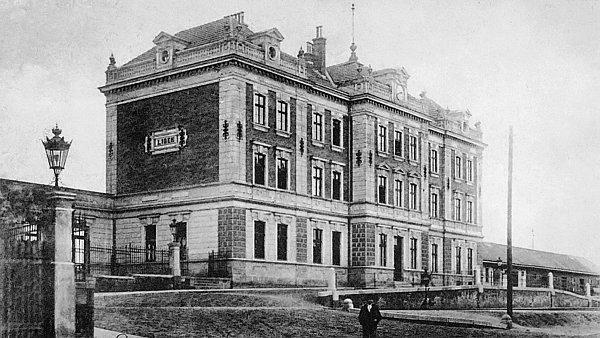 Praha-Libeň, horní nádraží, kolem 1900