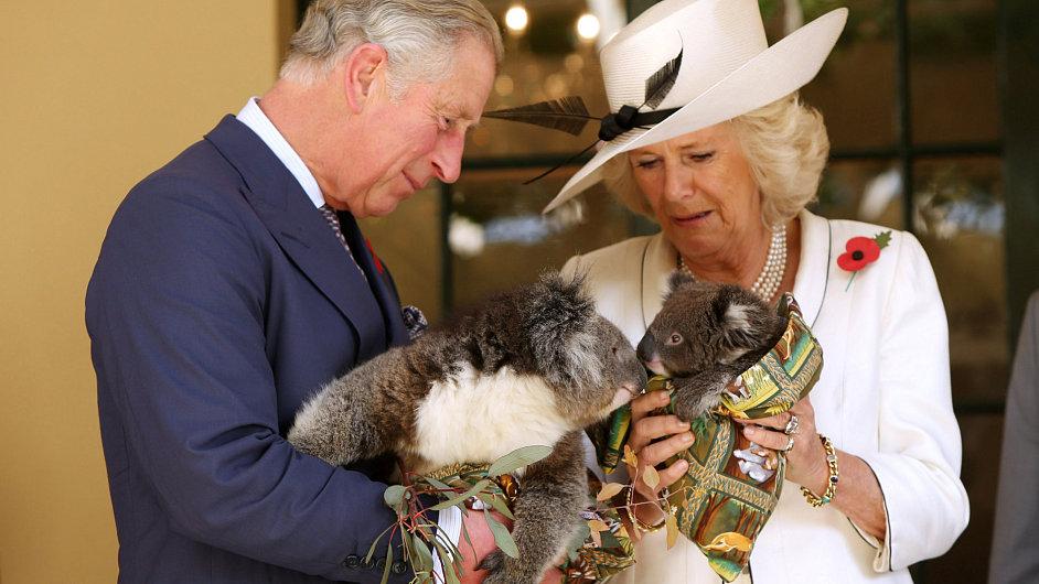 Charles a Camilla v Austrálii.