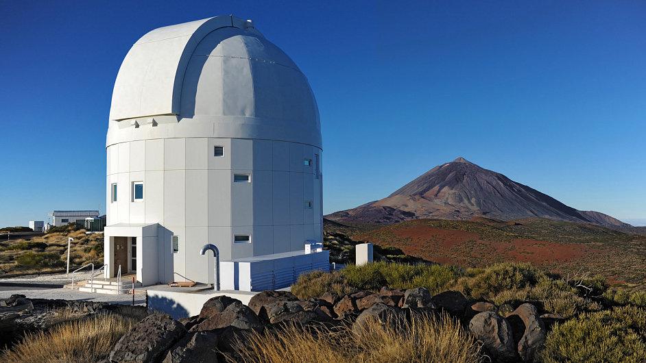 Astronomický dalekohled  na ostrově Tenerife
