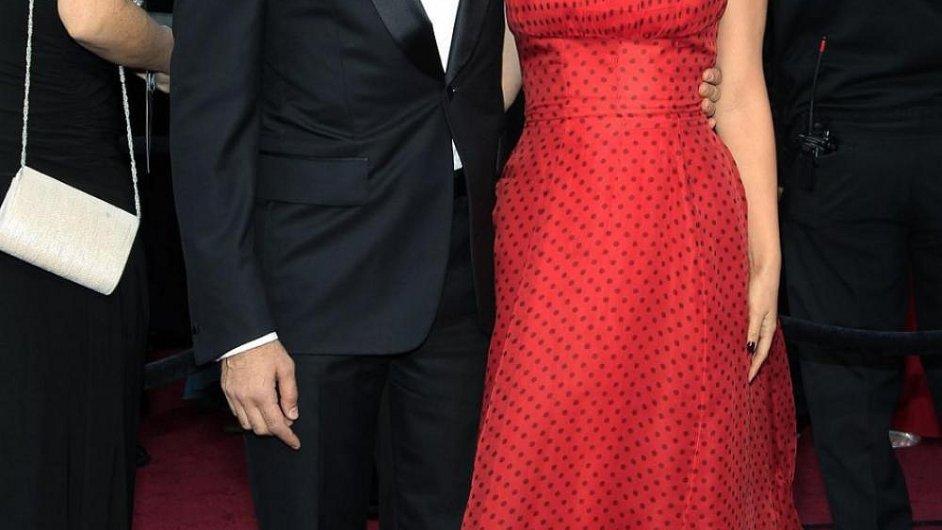 Benjamin Millepied s manželkou Natalií Portman na loňském předávání Oscarů.