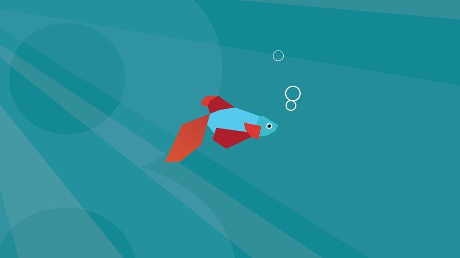 Metro rybka - hranatý maskot Windows 8