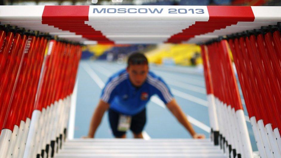 Přípravy na atletické MS v Moskvě