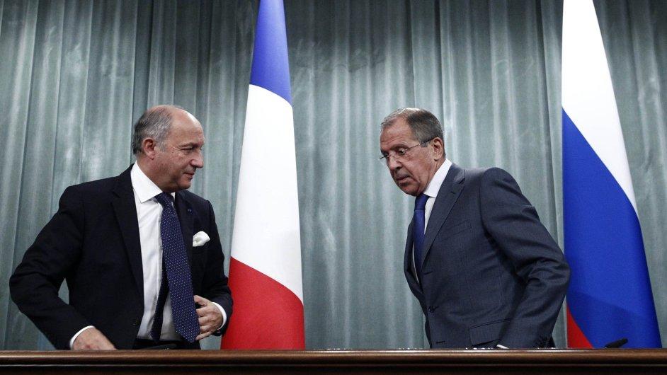 Laurent Fabius a Sergej Lavrov