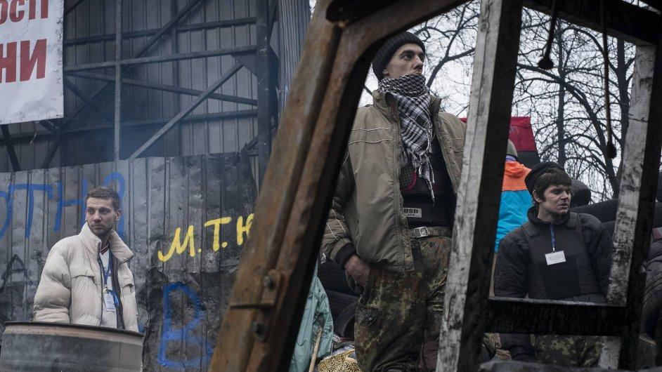 Protesty na Ukrajině, ilustrační foto.