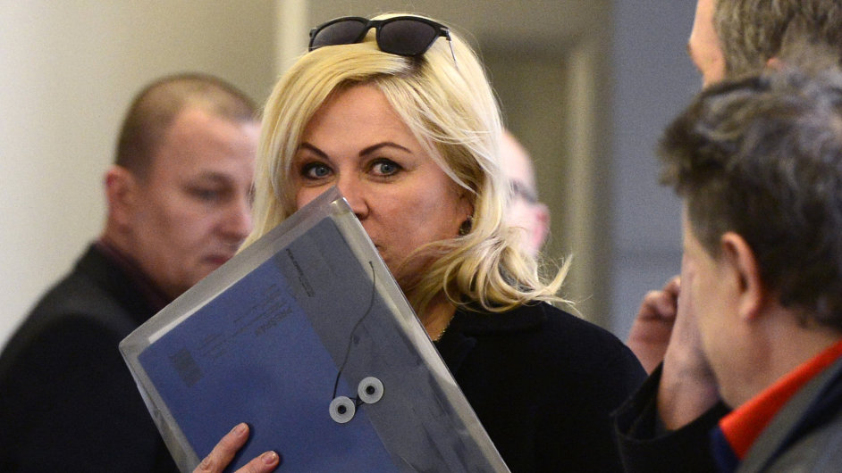 Jana Nagyová u soudu v lednu
