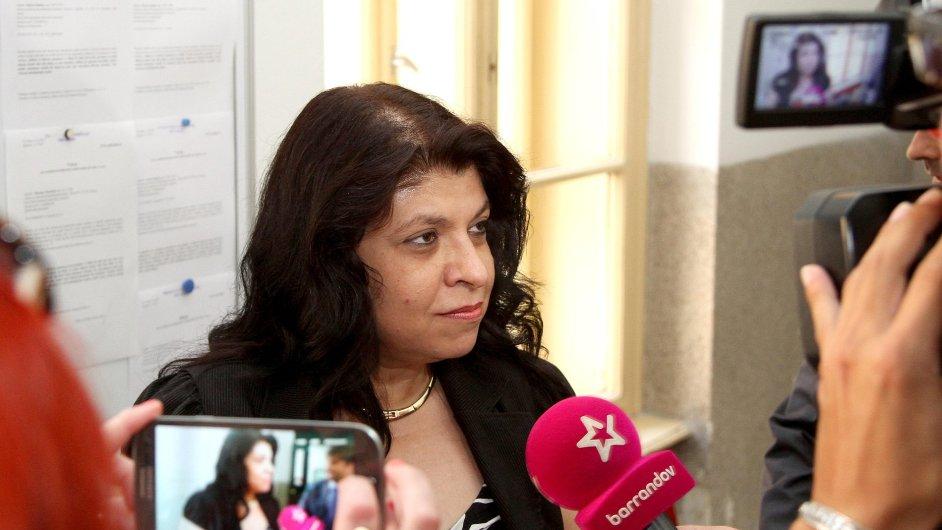 Lenka Balogová předstírala zájem o nájem bytu, ale byla odmítnuta proto, že majitel bytu si ho nepřeje Romům pronajmout.