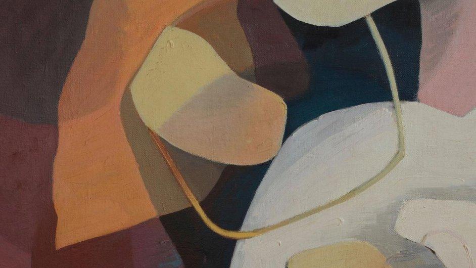 Na snímku abstraktní kompozice Františka Foltýna, která se vydražila za 1,4 milionu korun.