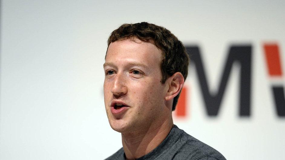 Mark Zuckerberg, zakladatel Facebooku, na veletrhu v Barceloně.