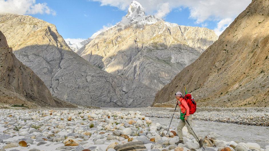 Klára Kolouchová na K2.