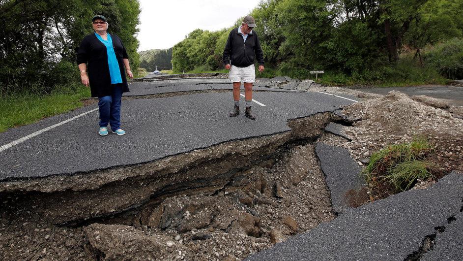 Zemětřesení Nový Zéland