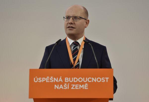 Sobotka na sjezdu ČSSD.
