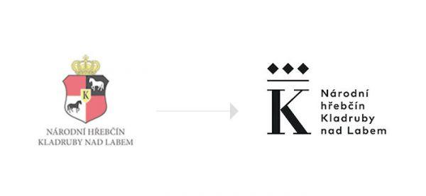 Původní a nové logo hřebčína