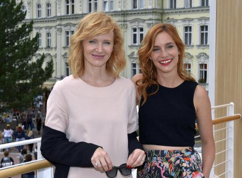 Na snímku z představení filmu Milada na festivalu v Karlových Varech jsou herečky Aňa Geislerová a Hana Vagnerová.