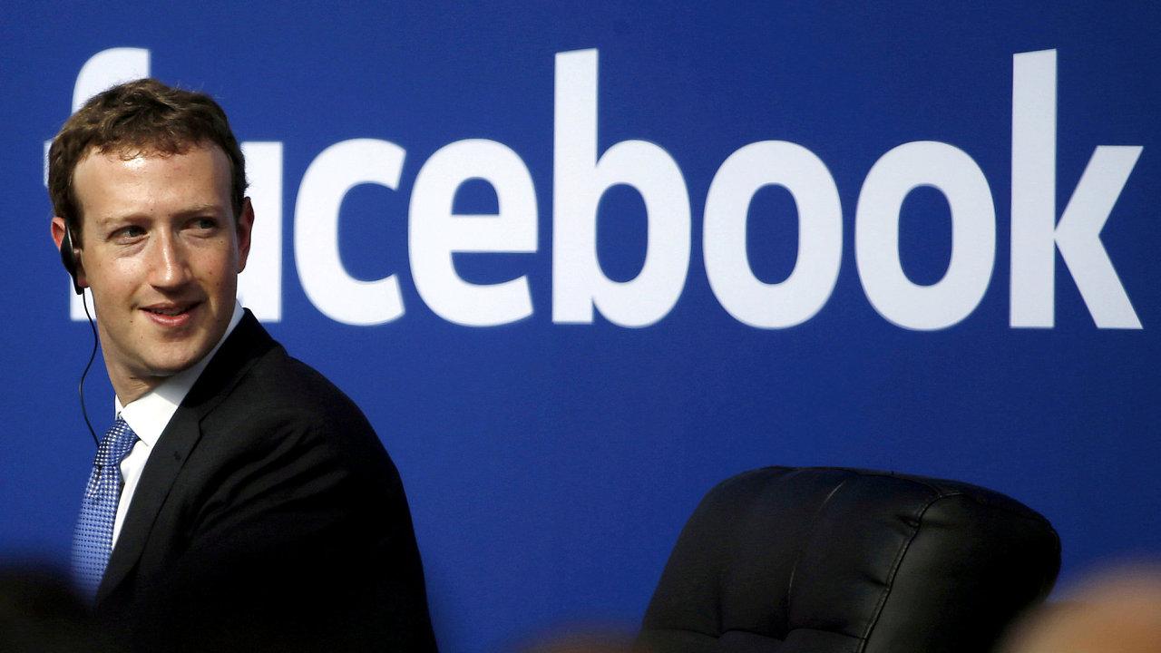 Zakladatel společnosti Facebook Mark Zuckerberg.