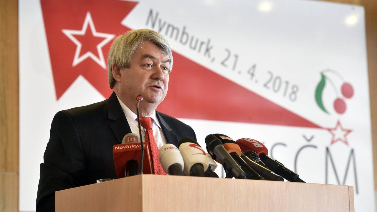 Vojtěch Filip na sjezdu KSČM.