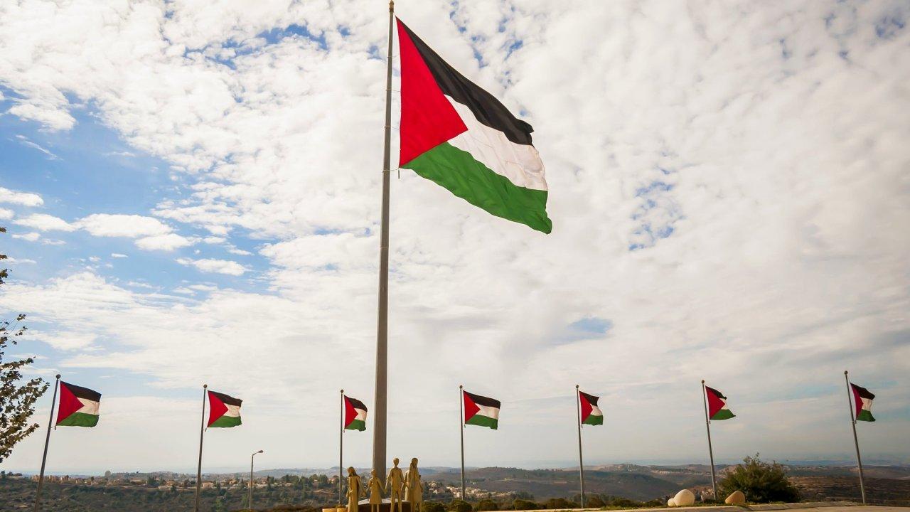 Palestina, palestinská vlajka, Izrael