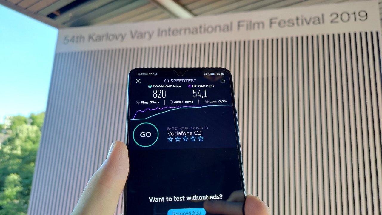 První setkání s 5G sítí na KVIIF