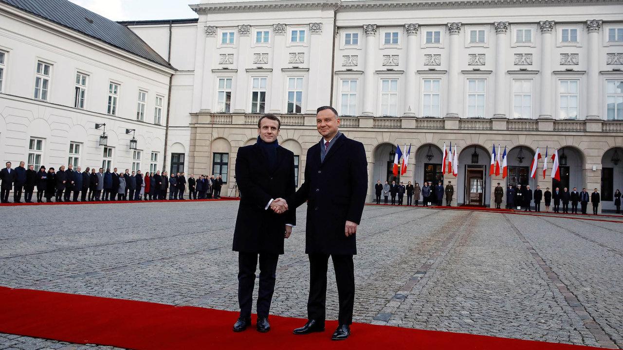 Francouzský a polský prezident: Emmanuel Macron aAndrzej Duda.