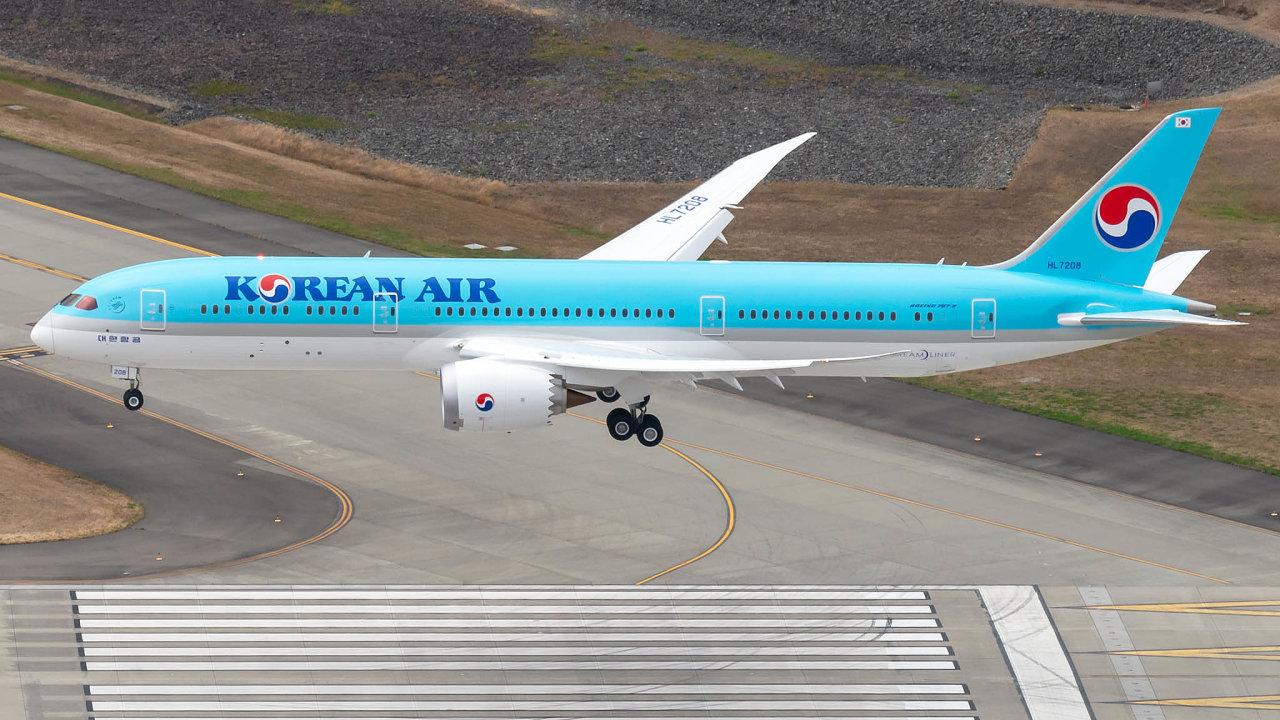 Boeing 787-9 Dreamliner má kapacitu 269 cestujících.