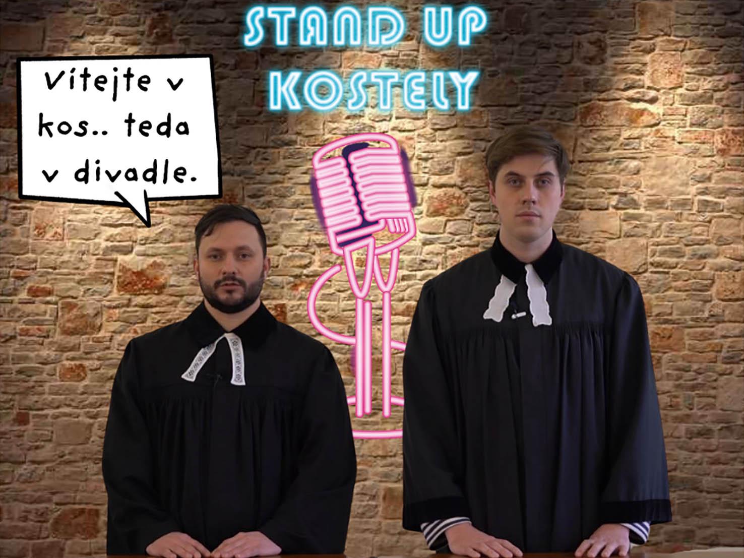 Faráři Jakub Malý aKarel Müller, kteří si říkají Pastoral Brothers.