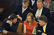 Místopředsedkyně Věcí veřejných Lenka Andrýsová mezi kolegy poslanci