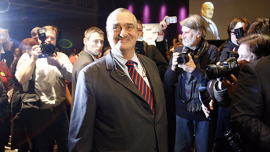Kandidát na prezidenta a předseda TOP 09 Karel Schwarzenberg.