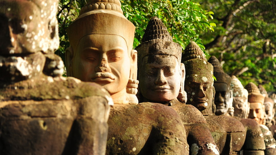 Jedním ze zastavení cesty kolem světa jsou i chrámy v komplexu Angkor Wat v Kambodži.