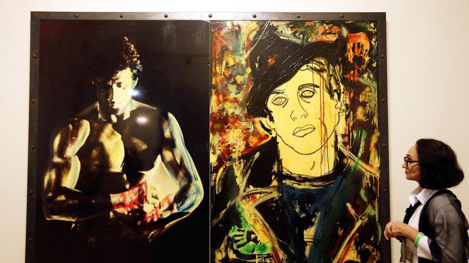 Sylvester Stallone, Moskva, Rusko, výstava obrazů, malba