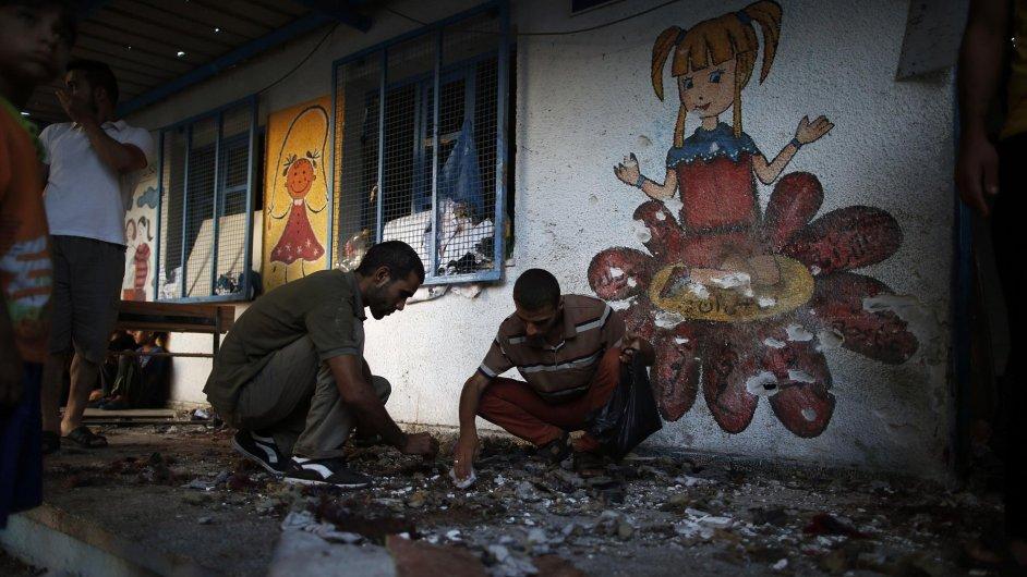 Škola OSN v Pásmu Gazy po nočním ostřelování