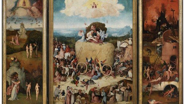 Na snímku detail z Boschova triptychu Fůra sena, který vznikl v letech 1500 až 1502.