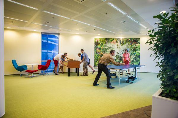 Odpočinkové zóny podporují spokojenost zaměstnanců