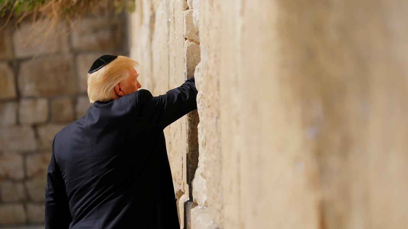 Trump, Izrael, Zeď nářků.