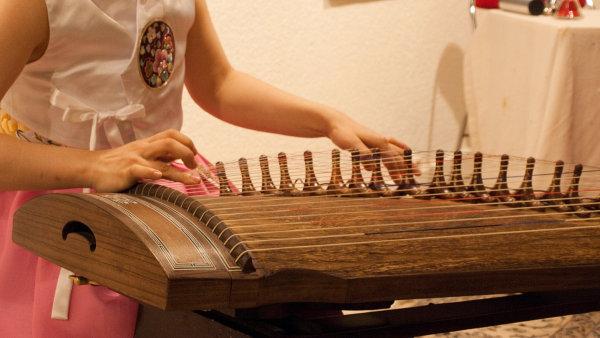 Součástí koncertu bude hra na tradiční korejský nástroj kajagum, který patří mezi citery