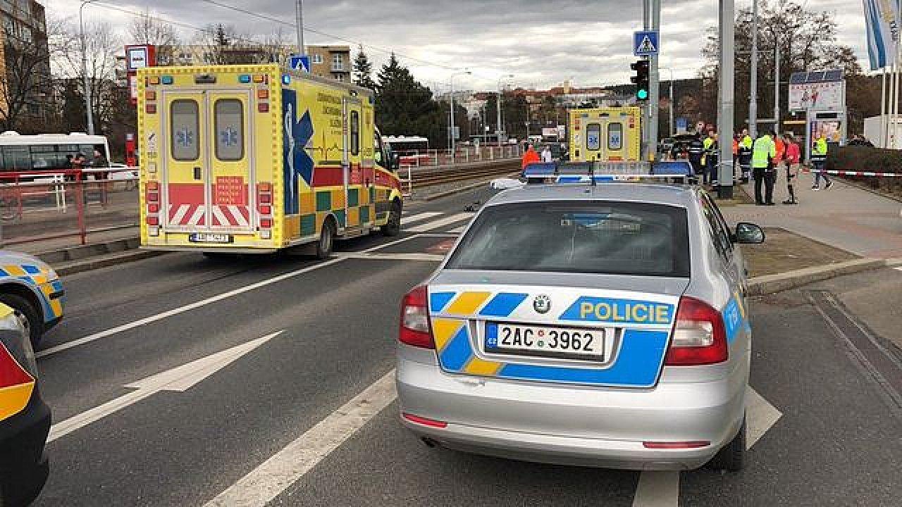 Nehoda v Hostivaři.