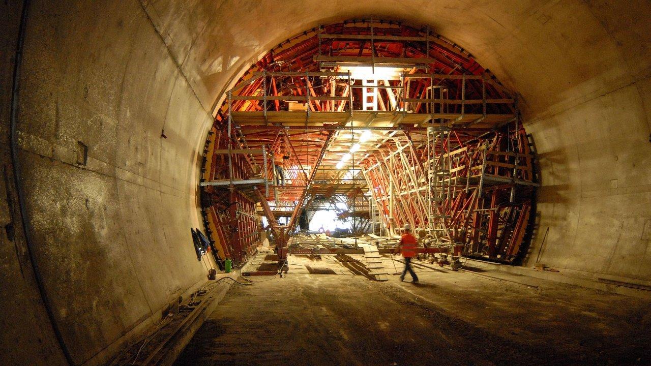 Stavba tunelu, ilustrační foto