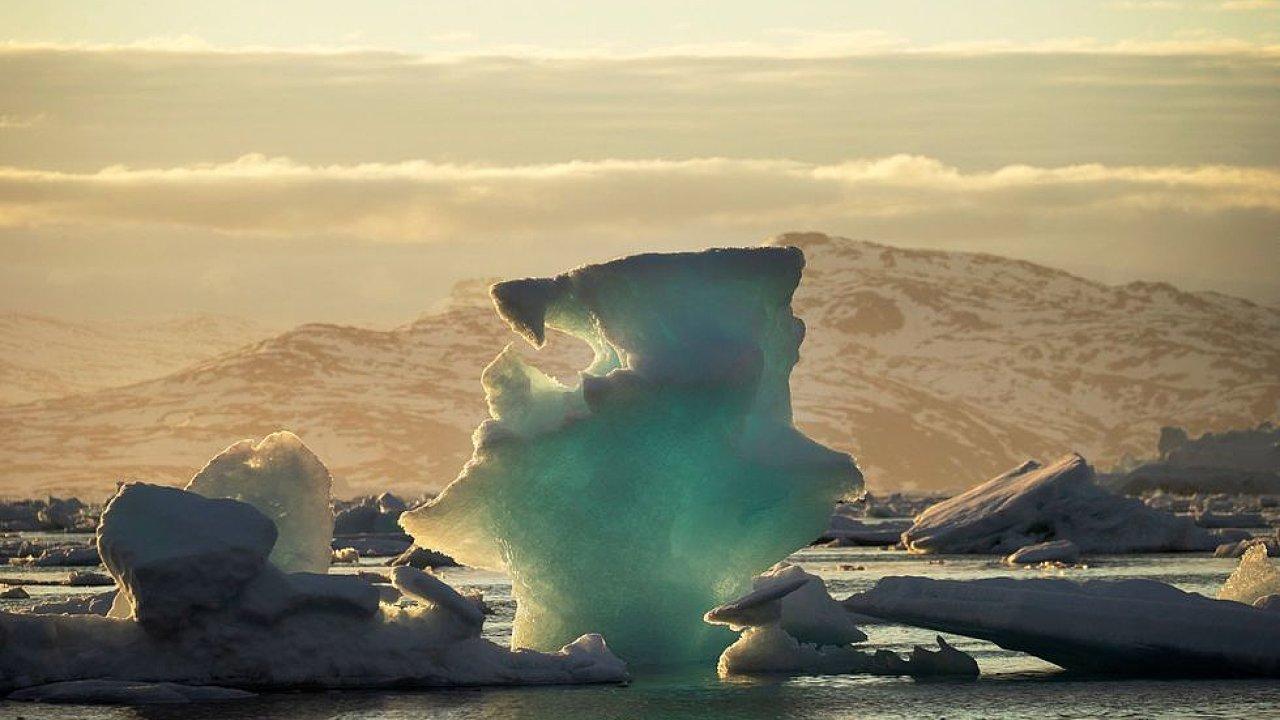 Grónsko, tající ledovec