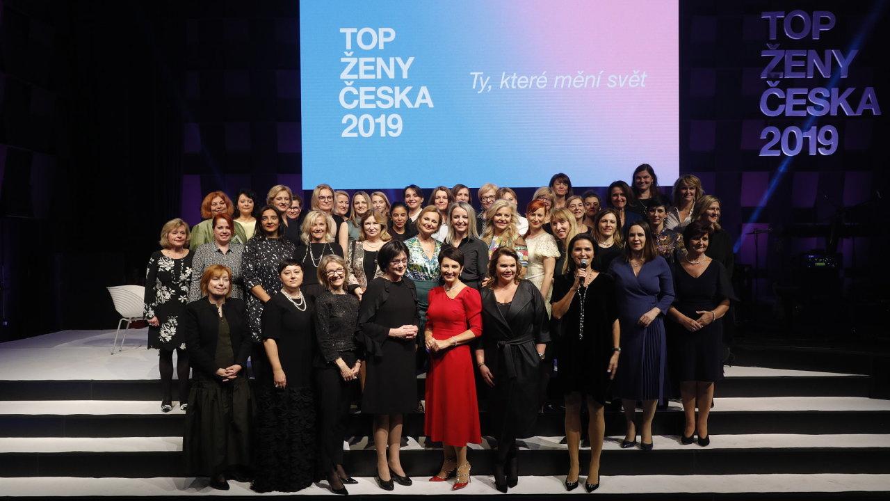 Slavnostní vyhlášení ankety Top ženy Česka 2019