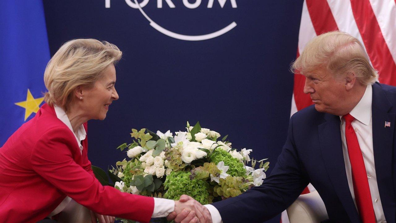 Usula von der Leyen, Davos, Donald Trump