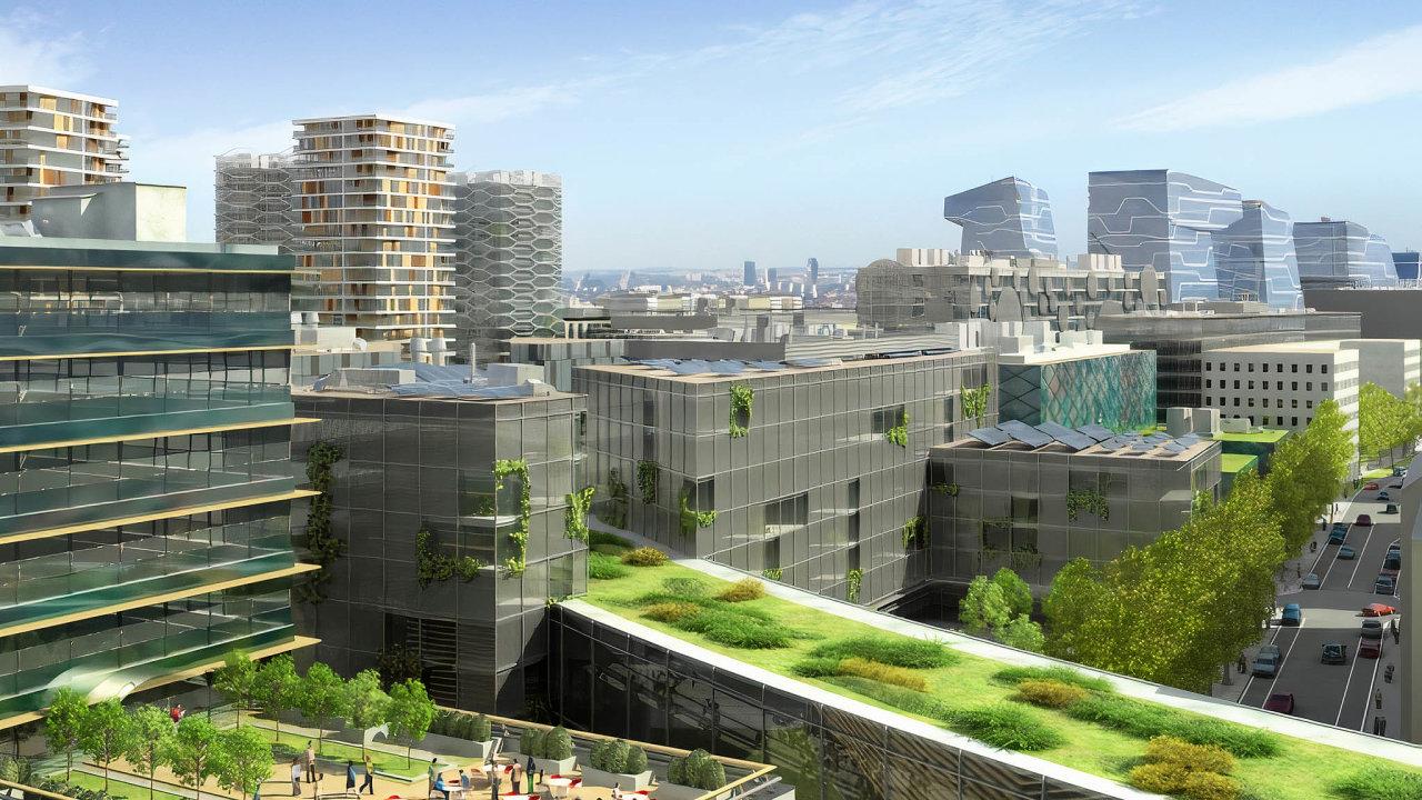 Západně odtržnice se plánuje vybudování čtvrti budoucnosti Bubny-Zátory.