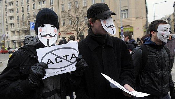 Protesty proti ACTA v Praze