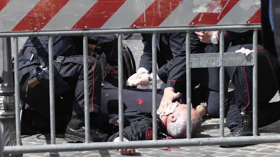 Zraněný italský policista po střelbě u sídla vlády