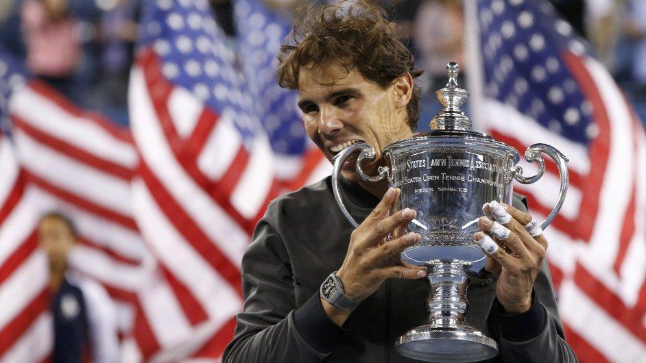Rafael Nadal jako vítěz US Open