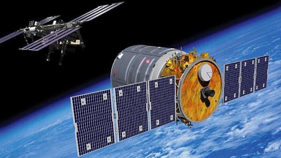 Přibližovací manévr lodi Cygnus ke stanici ISS