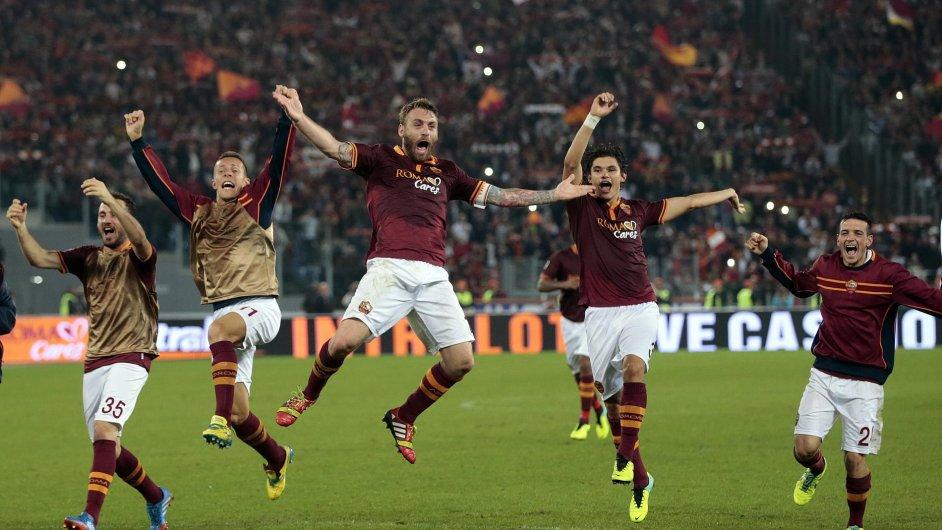 Radost fotbalistů AS Řím