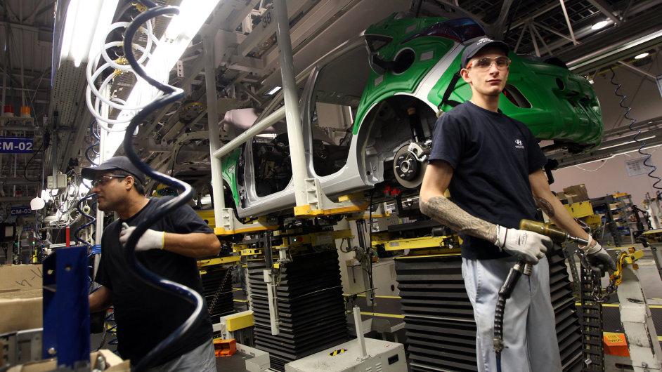 Studie oslovila i firmy z automobilového průmyslu (Na ilustračním snímku Hyundai Nošovice).