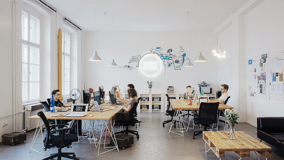 Architektonické řešení studia Collaborative Collective pro českou firmu Bubble