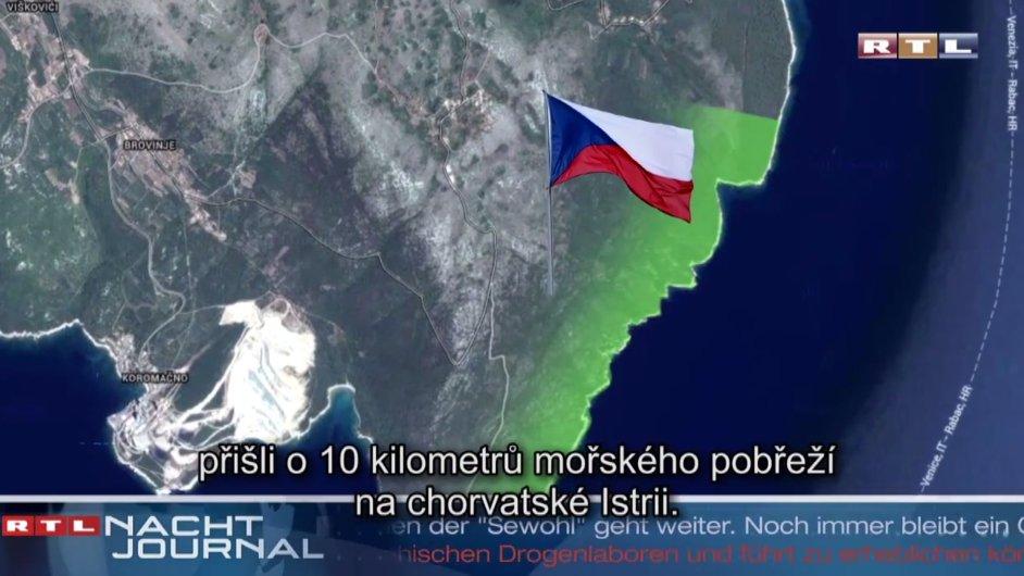 Fiktivní reportáž RTL, podle níž Češi přišli o moře.